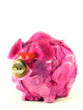 Pink pig of money-box Stock Image