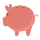 Pink pig moneybox, graphic Stock Photography