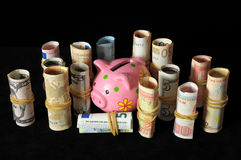Pink Pig Piggy Bank Stock Image