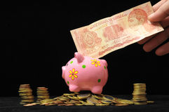Pink Pig Piggy Bank Royalty Free Stock Photo