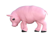 Pink Pig on White Royalty Free Stock Images