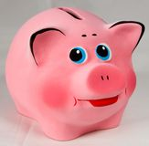 Pink piggy bank. Isolated Stock Photo