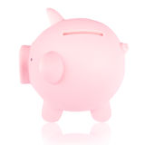 Pink piggy bank 2 Royalty Free Stock Images