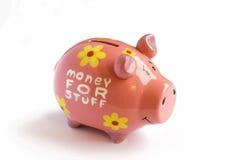 Pink piggy bank Stock Photo
