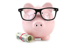 Free Pink Piggy Bank Stock Photo - 56841920