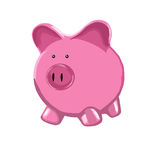 Pink Piggy Bank. Illustration of a Pink Piggy Bank vector illustration