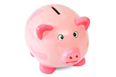 Pink piggy bank Royalty Free Stock Photo