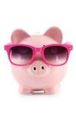 Pink piggy bank Royalty Free Stock Image