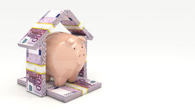 Pink piggy bank. Investment concept. Render 3D. Pink piggy bank. Investment concept, 3d rendering Stock Photography