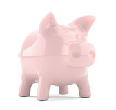 Pink piggy bank isolated on white background Stock Photo