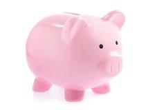 Pink piggy bank Stock Photography