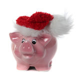 Pink piggy bank with jelly bag cap Stock Photos