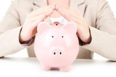 Pink piggy bank Royalty Free Stock Photos