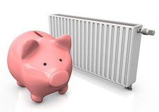 Piggybank Radiator Royalty Free Stock Photo