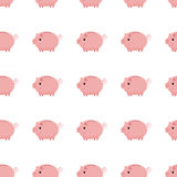 Pink piggy bank seamless pattern. Piggy bank on white background Royalty Free Stock Image