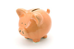 Pink piggy bank. Royalty Free Stock Images