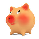 Pink piggy bank. Royalty Free Stock Image