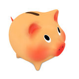 Pink piggy bank. Stock Image