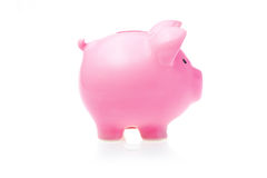Pink Piggy Bank. At the White Backgriund Royalty Free Stock Images