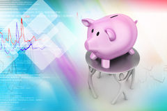 Pink piggy money bank Royalty Free Stock Images