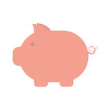Pink piggy money cash safety Stock Photo