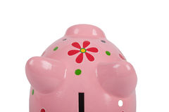 Pink Piggybank isolated on white Royalty Free Stock Images