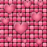 Pink pile with hearts Royalty Free Stock Photography