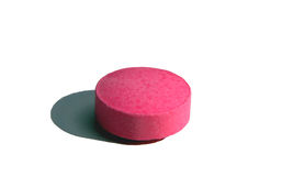 Pink pill Stock Photo