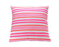 Pink pillow. Pink and rosy pillow on the white Royalty Free Stock Images