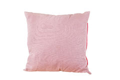 Pink pillow blow color on white Stock Photography