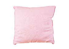 Pink pillow on white Royalty Free Stock Photo