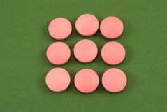 Pink pills Royalty Free Stock Images
