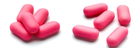 Pink pills Royalty Free Stock Image