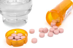 Pink Pills Stock Photos