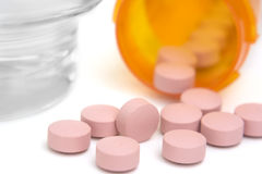 Pink Pills Stock Photo