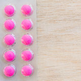 Pink pills in blister pack Royalty Free Stock Images