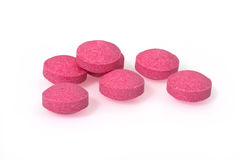 Pink pills closeup drug macro photography Stock Photography