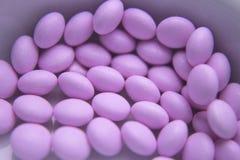 Pink pills to treat hyperthyroidism Stock Photo