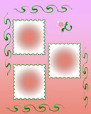 Pink pink frame Royalty Free Stock Photography