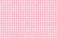 Pink Plaid. A background texture of pink plaid fabric Stock Photos