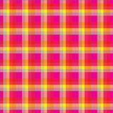 Pink plaid. Yellow-pink checkered seamless pattern stock illustration