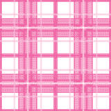 Pink plaid. Pink Scottish plaid non-suture pattern Stock Image