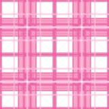 Pink plaid. Pink Scottish plaid non-suture pattern vector illustration