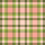 Pink plaid. Pink and green trendy seamless plaid pattern vector illustration