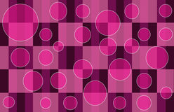 Pink Plaid Bubbles. Pink Plaid pattern with floating multi-colored bubbles Royalty Free Stock Image