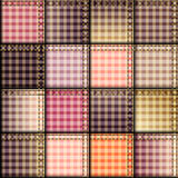 Pink plaid patchwork background Stock Image