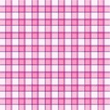 Pink plaid pattern Stock Photos