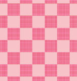 Pink plaid pattern Stock Photography