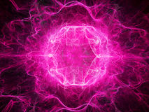 Pink plasma object in space Royalty Free Stock Photos