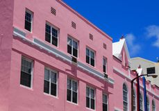 Pink Plaster in Bermuda Stock Photography